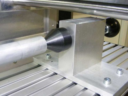 Rotating Tailstock for 4th Axis Rotary Table